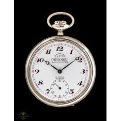 Antiguo reloj de bolsillo de origen suizo y funcionando