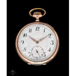 Estupendo reloj de bolsillo antiguo de origen suizo y funcionando circa 1900