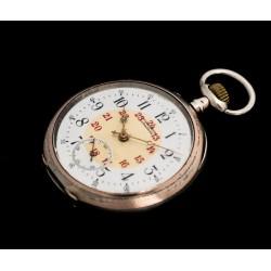Antiguo reloj de bolsillo antiguo de origen suizo y funcionando circa 1900