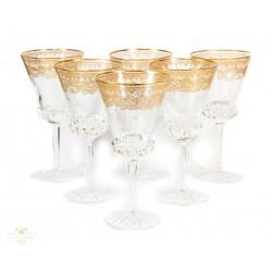 Magnificas copas de cristal tallado de origen francés de los años 1925.