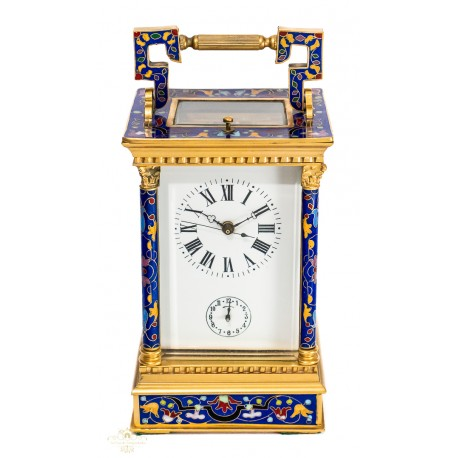 Antiguo reloj de carruaje consoneriasde origenfrancés,Circa1890.