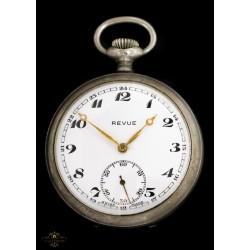 Antiguo reloj de bolsillo suizo y funcionando de la marca Revue