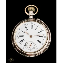 Antiguo reloj de bolsillo suizo y funcionando
