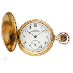 Antiguo Reloj de Bolsillo de oro, de la casa Waltham circa 1903 y funcionando perfectamente