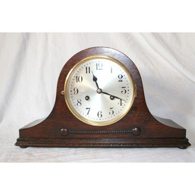 Reloj de sobremesa con cuerda manual marca junghans - Relojes de sobremesa antiguos ...