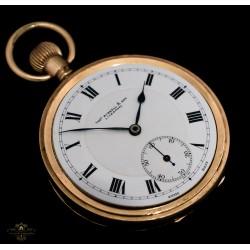Antiguo reloj de bolsillo de origen inglés/suizo funcionando