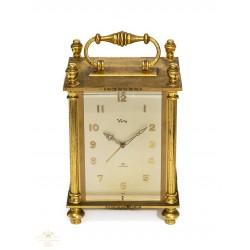 Antiguo reloj despertador de origen suizo de cuerda manual y funcionando