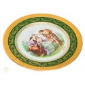 Espectacular plato antiguo de porcelana pintado a mano de origen frances Limoge de finales del siglo XIX.
