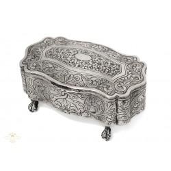 Antigua caja inglesa en plata de Ley