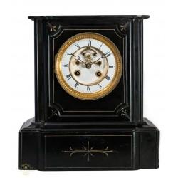 Antiguo reloj de sobremesa en mármol, funcionando de los años 1900