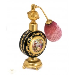 Antiguo perfumero de porcelana francesa pintado a mano