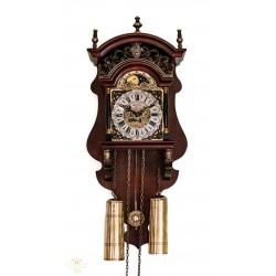 Espectacular antiguo reloj holandes de pesas con su fase lunar