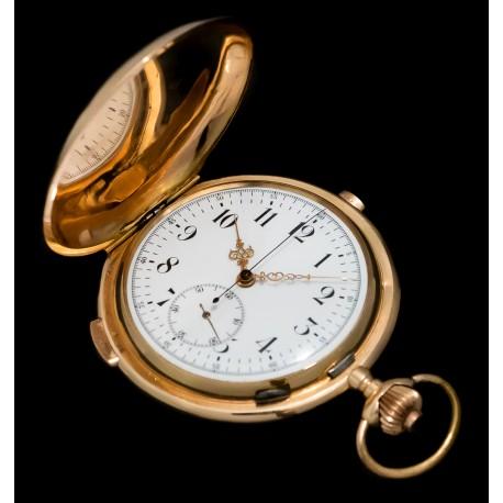 Magnifico Reloj de Oro 18K gran complicación con Sonería repetición a Cuartos, origen Suiza