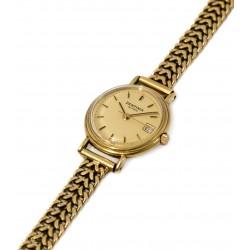 Espectacular reloj de oro para mujer, de cuerda manual de la marca ZENTIMA, funcionando perfectamente.