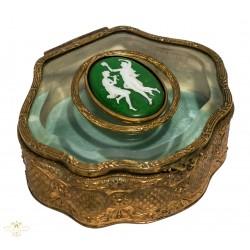 Caja antigua para guardar reloj de bolsillo y/o joyero