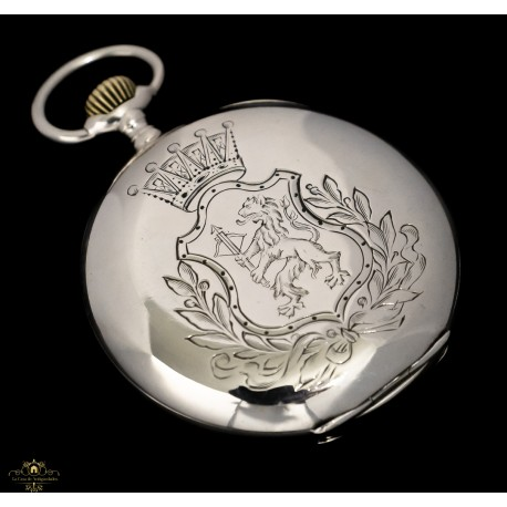 Magnífico reloj de bolsillo, de origen suizo plata maciza de la marca Omega, funcionando
