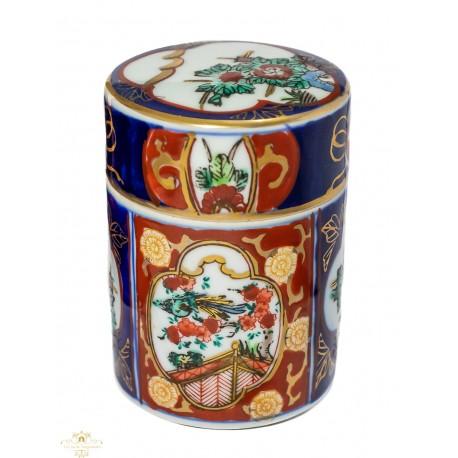 Elegante caja joyero de porcelana antigua de IMARI,pintado a mano