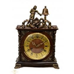 Antiguo reloj de sobremesa de cuerda manual Autómata