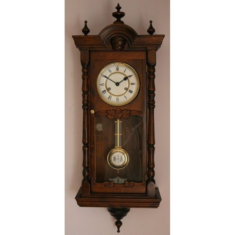 Antiguo reloj alfonsino de pared de la casa junghans la - Relojes de pared ...