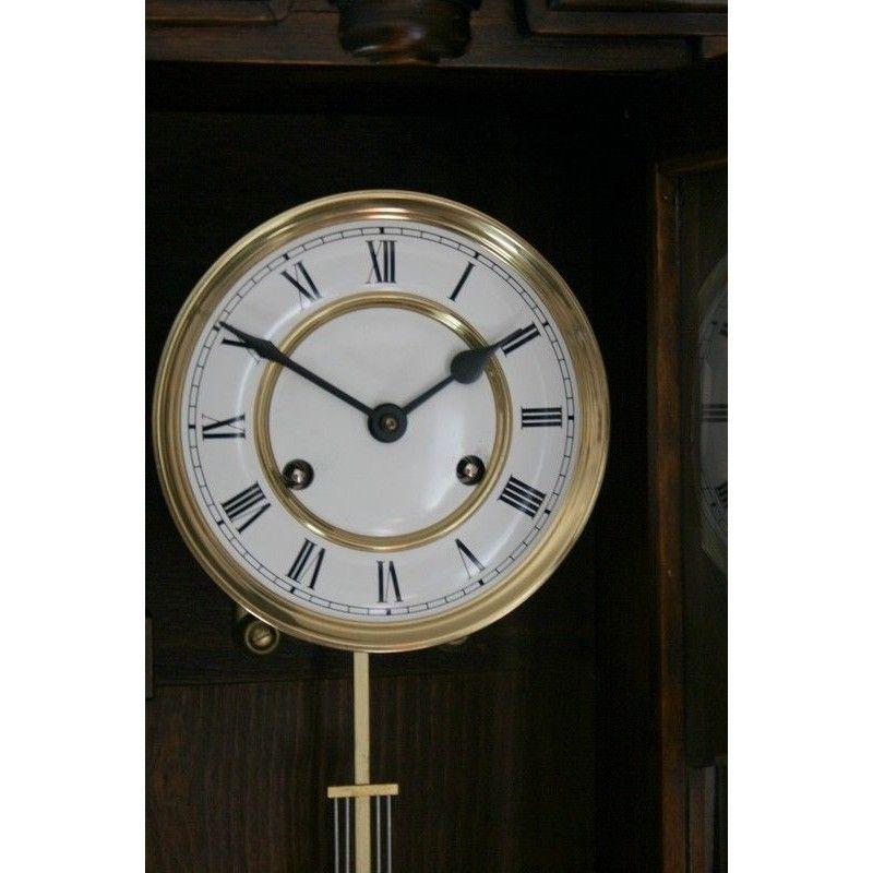 Antiguo reloj alfonsino de pared de la casa junghans la - Relojes para casa ...