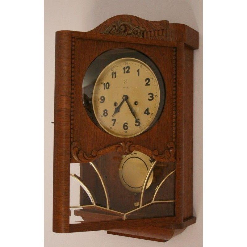 Antiguo reloj de pared aleman de la casa viking la for Relojes de pared antiguos precios