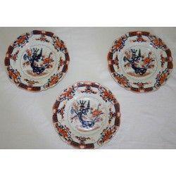 Tres platos de porcelana inglesa antigua, mason s